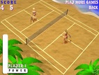 Beach-tennis-game